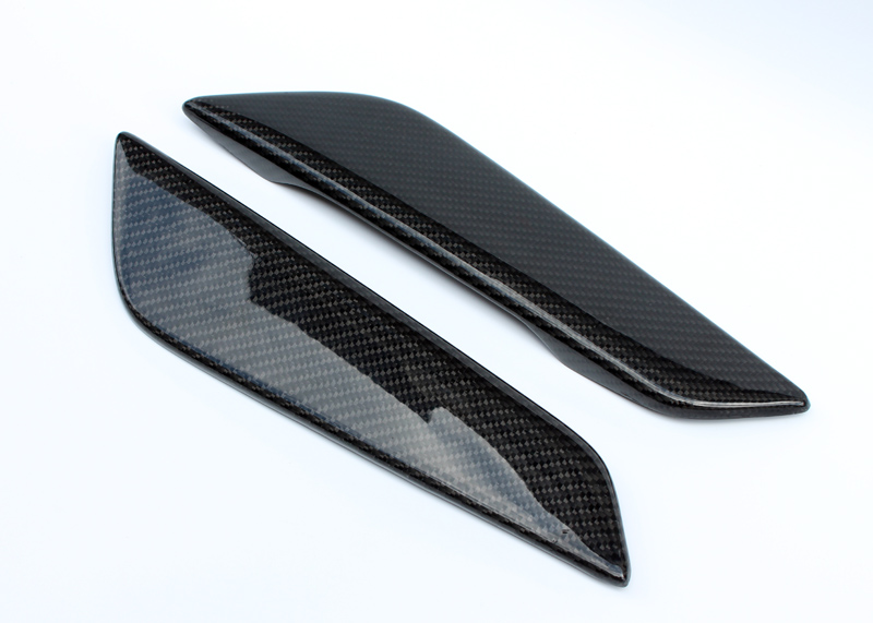 Car-styling For BMW G30 G38 5 Series Carbon Fiber Front Fender Vent Glossy Fibre Racing Auto Air Intake Duct Body Kit Trim epr car styling for nissan skyline r32 gtr gtst carbon fiber mirror cover glossy fibre exterior side accessories racing trim