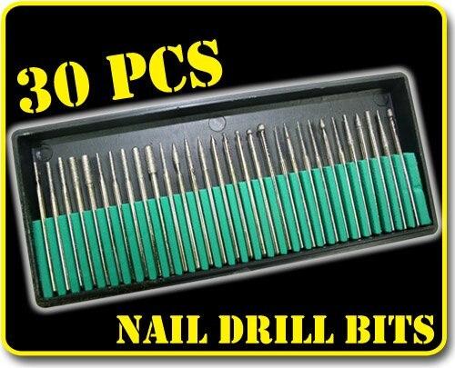 30 шт. маникюрный педикюр профессиональный электрический набор сверл для ногтей для акриловой электрической машины Carver Оптом