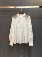 2019 net new high end fashion women's clothing color embroidered shirt 226