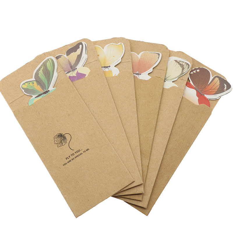 6 Pcs Books Marks Flower Print Bookmark Stationery Mini Paper 3D Stereo Butterfly Bookmarks For Girls Women Gifts Random Color stand collar zip up 3d color block butterfly print jacket