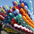 10 pçs/lote 10x Hélio Spiral Balões Latex Mix Cores da Festa de Aniversário Decoração