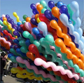 10 unids/lote 10x Helium Espiral Globos Latex Mix Colors Birthday Party Decoration