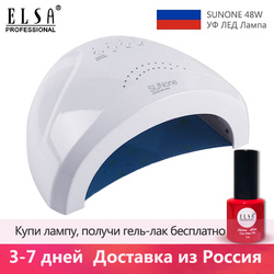 48 w sunone profissional conduziu a lâmpada uv do prego para o polonês do gel do prego conduziu a lâmpada uv do secador do prego da luz do prego navio do armazém russo