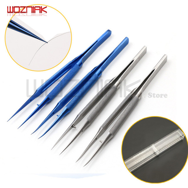 Wozniak Professional Repair Titanium Alloy Fingerprint Tweezers 0.01/0.02 mm BGA Motherboard Maintenance Nipper