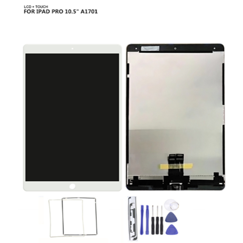 LCD Assembly For iPad Pro 10.5 A1709 A1701 LCD Assembly Screen Display Touch Panel +Assemble Tool +Sticker+Middle Frame