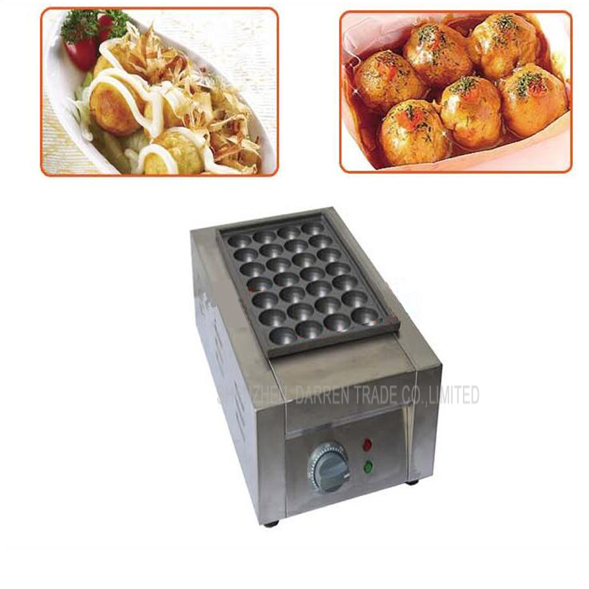 1PC FY-28D Commercial Electric Fish Pellet Maker/ Fish Ball Machine/  Takoyaki Maker/ Fish Ball Grill 1pc high quality commercial electric 2 plate 36 hole takoyaki maker takoyaki machine fish ball grill 110v or 220v 4kw
