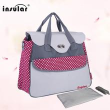 Fashion And Multifunctional Baby Diaper Bag Waterproof 600D Nylon Mommy Bags Fashion Patchwork Lady's Bag