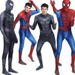 Adulto crianças spiderman trajes homem aranha cosplay veneno macacão terno elastano zentai bodysuit halloween fantasia vestido pele apertada
