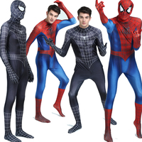 Adult Kids Spiderman Costumes Spider Man Cosplay Venom Jumpsuit Suit Spandex Zentai Bodysuit Halloween Fancy Dress