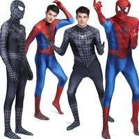 Adult Kids Spiderman Costumes Spider Man Cosplay Venom Jumpsuit Suit Spandex Zentai Bodysuit Halloween Fancy Dress