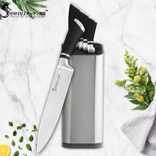 Sowoll High Grade Kitchen Knife Sets Japanese Stainless Steel Knives Chef Slicing Bread Santoku Utility Paring Cooking