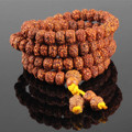 Ubeauty 8mm 108 Nepal natural bodhi seed  beads bracelet Tibetan Buddhist japa prayer men bangles  meditation  necklace