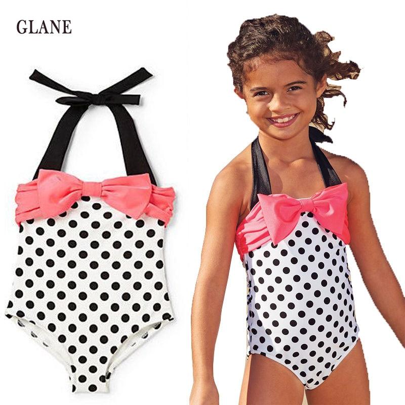 ragazze costumi da bagno principessa sirena one pieces costume da bagno per  bambini dots vestito di a385ce891ab7