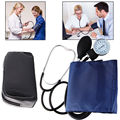 Blood Pressure Monitor Nylon Cuff Manual Sphygmomanometer Stethoscope BP  Kit