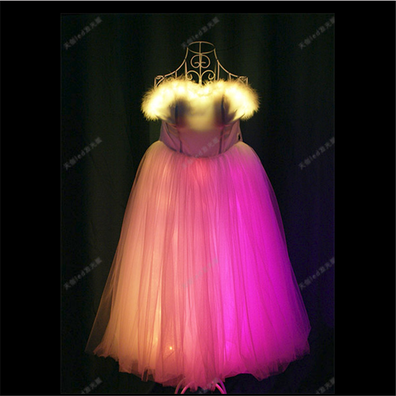 TC-170 Programmable Ballroom dance dresses wanita led kostum cahaya - Hari libur dan pesta - Foto 2