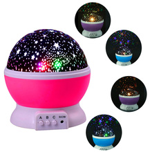 Stars Starry Sky LED Light Projector Moon Lamp Battery USB Kids Children Bedroom Projection Night Lamp Bedroom Decor Night Light