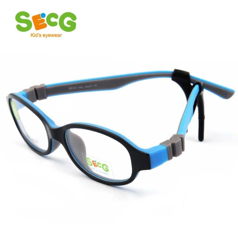 SECG TR90 Ultraleve Flexível Macio Crianças Crianças Quadro Espetáculo Óptico Óculos de Armação para Óculos De Visão Lunettes de Vue Enfant