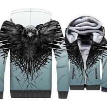 Juego de tronos 3D chaqueta 2018 otoño invierno de la manera gruesa sudadera  hombres tres eyed Cuervo Hip Hop Streetwear hoodies. 928d06b3343