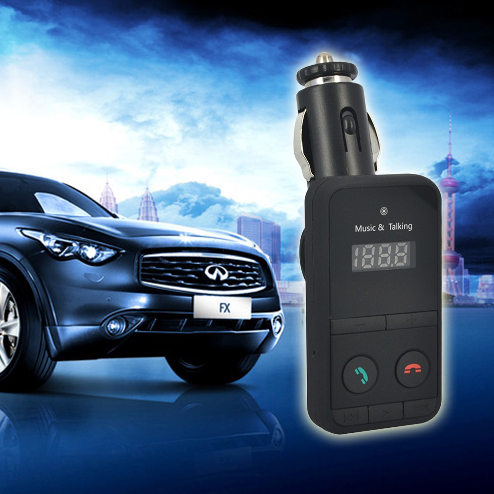 Car MP3 Audio Player Bluetooth FM Transmitter Wireless FM Modulator Car Kit HandsFree USB Charger LCD Display for iPhone Samsung