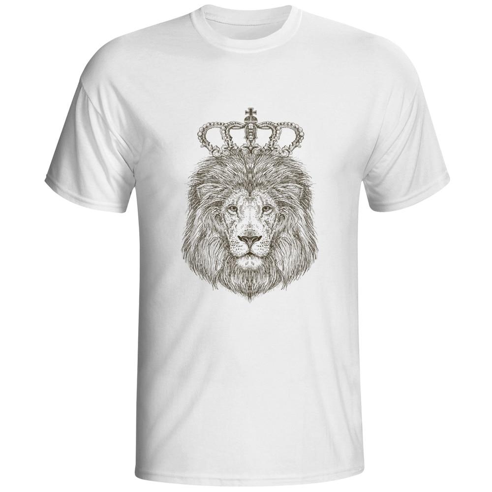 Lion Leon The Emperor T Shirt Animal Brand Funny Fashion T-shirt Anime Skate Creative Unisex Tee