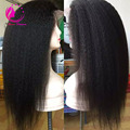Silk Top Full Lace Wig With Natural Hairline Yaki Straight Brazilian 4*4 Silk Top Lace Front Wig For Black Women Can Be Ponytail