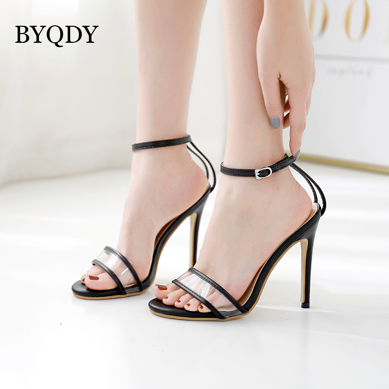 BYQDY Narrow Band Vintage Sandals Buckle Strap Shoes Women Summer Open Toe Slipper  Size 35-40