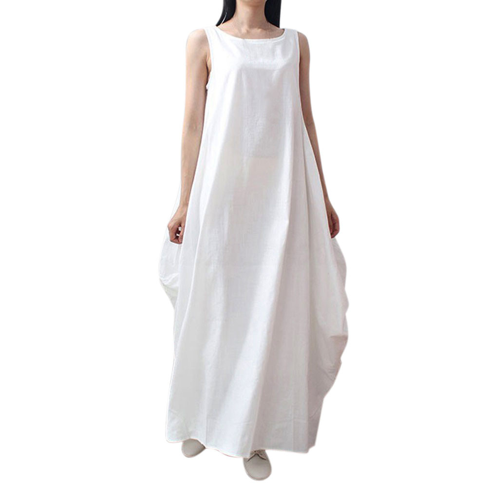 Fein Easehut Frauen Baumwolle Kleid 2019 Herbst Frühling Langarm Maxi Lange Kleider Sexy Split Casual Lose Plus Größe 4xl 5xl Vestido Frauen Kleidung & Zubehör