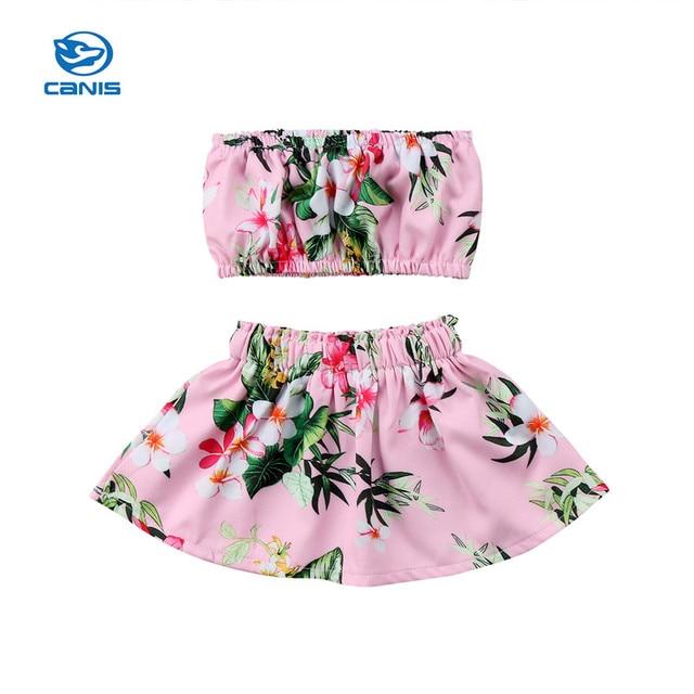 cf14c50e22c4 Hot Sell Baby Girls Clothes Set 2018 Summer Newborn Baby Girl Tube ...