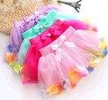 2016 Moda de Nueva Lindo Pretty Baby girl Princesa falda del Busto de la Flor Colorida Del Cordón Del Verano para niños ropa para niños