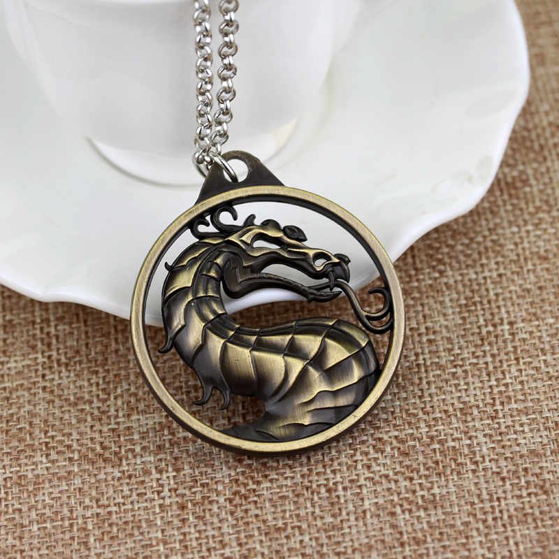 Game jewelry Game of throne big dragon necklace Ice And Fire Song Mortal Kombat Dragon Necklace