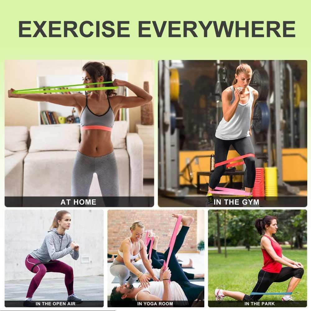 Dos tipos de bandas de resistencia para ejercicio para gimnasio para el hogar, entrenamiento de fuerza, terapia física, correas para ejercicio de Yoga de látex Natural