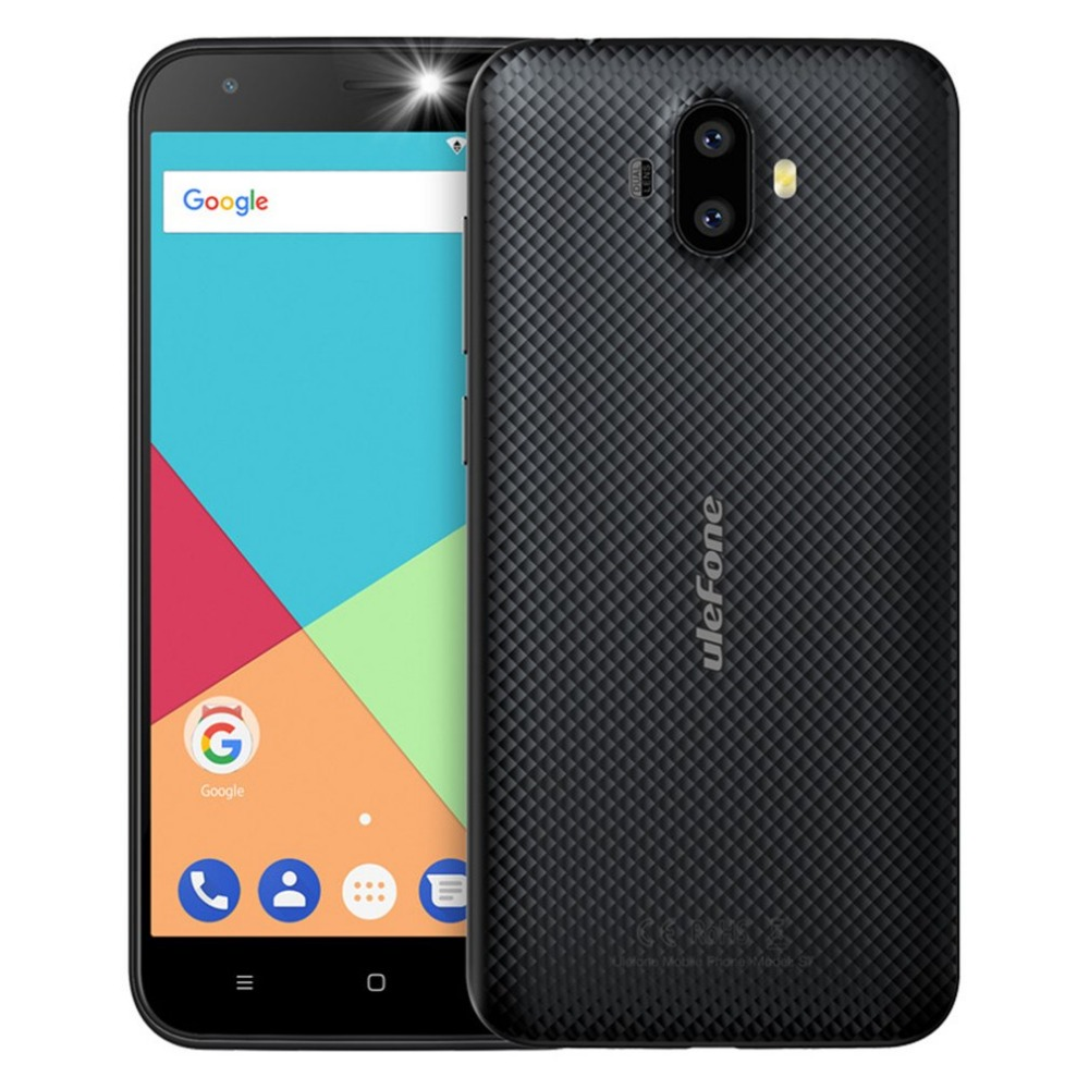 Ulefone S7 Smartphone Dual Rear Cameras 5.0 inch HD MTK6580A Quad Core Android 7.0 1GB RAM 8GB ROM WCDMA Mobile Phone celulares
