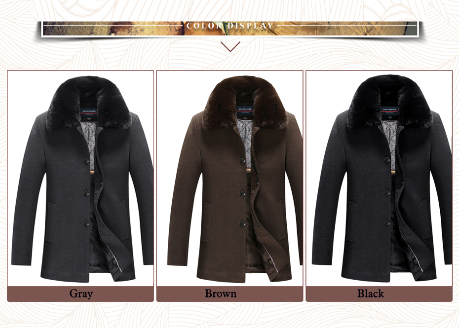 12be3b1cd Detail Feedback Questions about men Thick Wool Coat Jacket Man ...