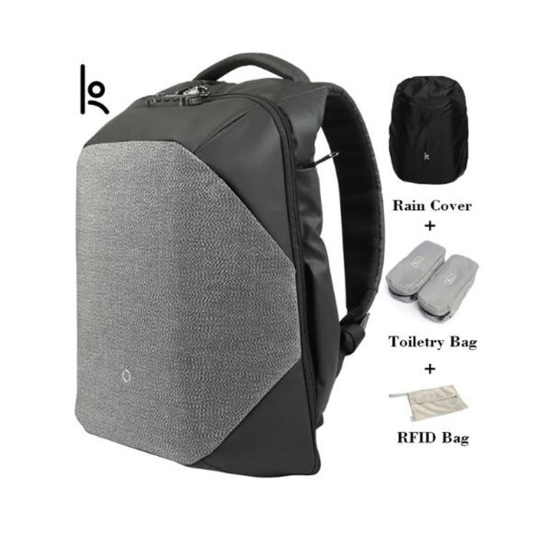 K Click Anti Cut Solid Backpacks Scientific Storage System Bags External USB Charging Laptop Backpack For Man And Women