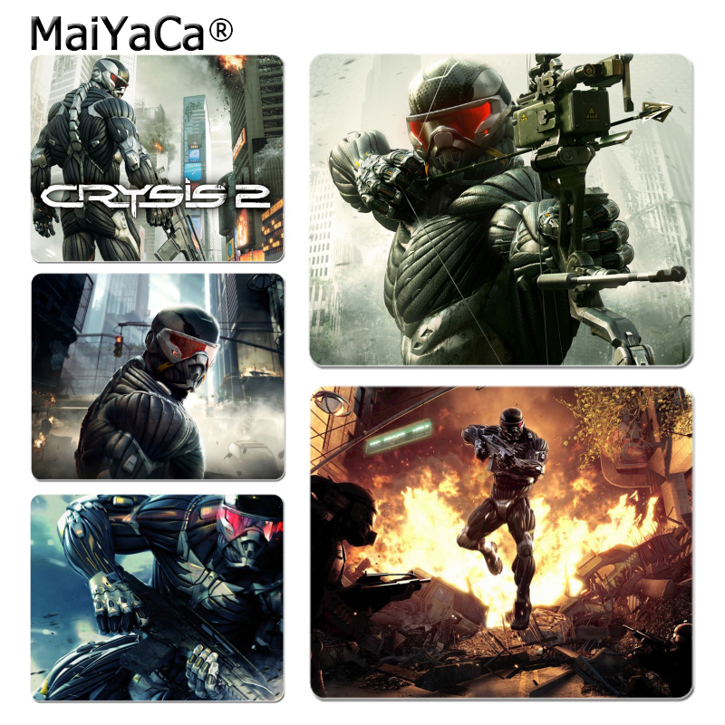 MaiYaCa Top Quality Crysis 2 Game Wallpape mouse pad gamer play mats Size for 18x22cm 25x29cm Rubber Mousemats