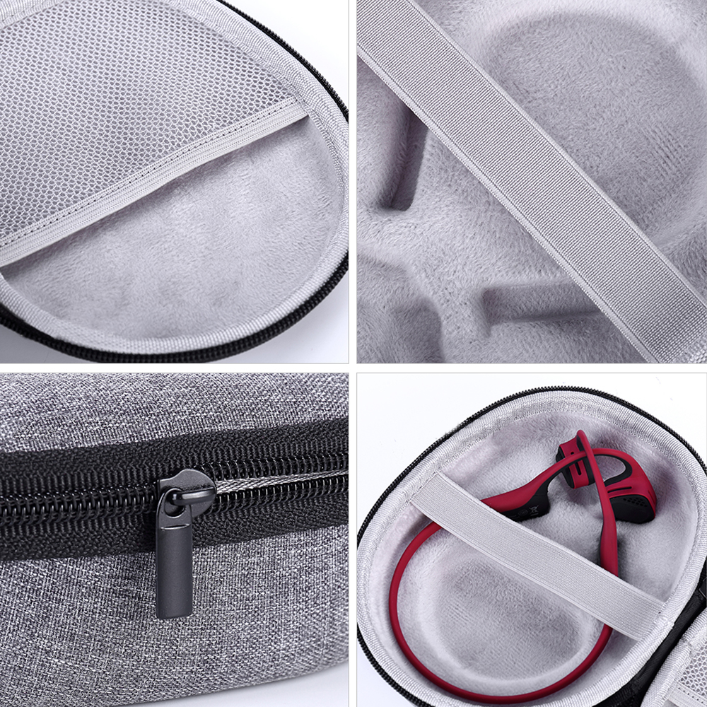 2018 New Hard Travel Box Cover Pouch Bag Case for AfterShokz Trekz Titanium/Mini/Air Bone Conduction Headphones