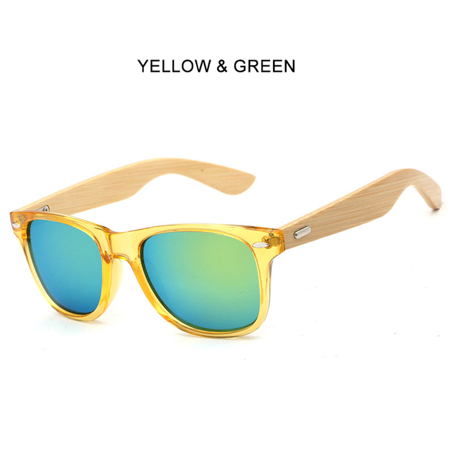 6b5a573ac7 Men Women Wood Sunglasses Clear Plastic Frame Bamboo Wooden Arms Glass  Brand Design Sport Goggles Mirror Sun Glasses Shades