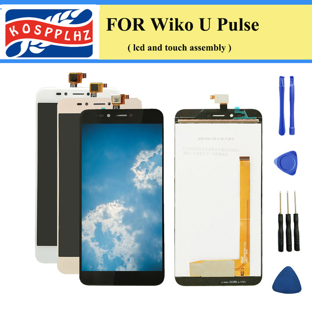 """5.5"""" 1280*720 Touch Sensor For Wiko UPulse LCD Display With Touch Screen Assembly For For Wiko U Pulse LCD Rated +tools"""