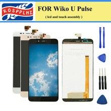 """5.5 """"1280*720 מגע חיישן עבור Wiko UPulse תצוגת LCD עם מגע הרכבה מסך עבור Wiko U דופק LCD מדורג + כלים"""