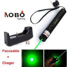 Sale Focusing Powerful Burning 532nm Green Laser Pointer Pen High power Lazer Beam Light Show Lighting Laser Pointers+Charger