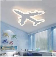 Детская комната aircraf светодиодный потолочный светильник простой современный мультфильм творческий самолет мальчик и девочка спальни ламп