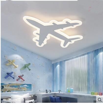 children's room aircraf Led ceiling light simple modern cartoon creative airplane boy and girl bedroom lamp plane ZA71016 creative cartoon baby cute led act the role ofing boy room bedroom chandeliers children room roof plane light absorption