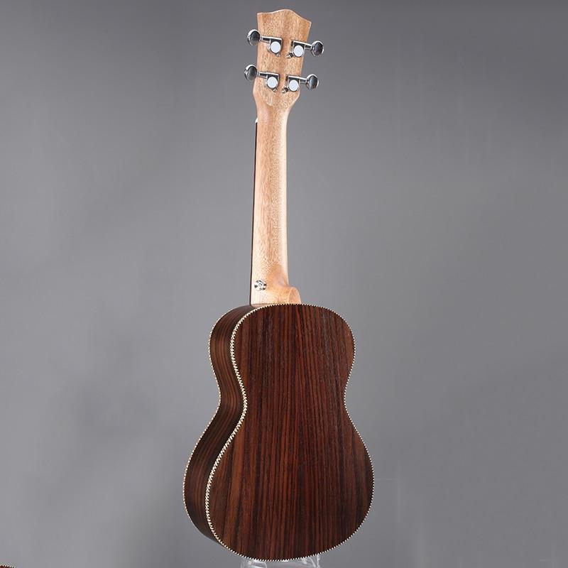 Instrumentos Musicales de la Guitarra Acústica De Madera Marrón de $ number pulgadas Ukulele Clásico Fringe Cerrado Knob Rosewood Guitarra Ukelele UC-73M