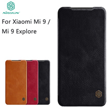 For Xiaomi Mi 9 Explore Phone Case Nillkin Qin Flip Leather Cases Cover Book Style
