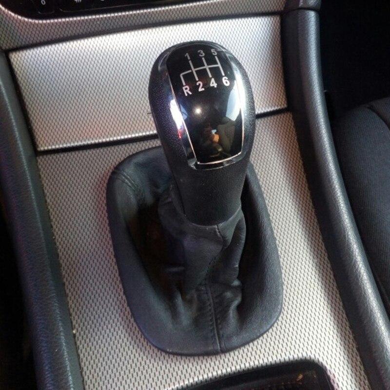 Newbee Black Cap Gear Shift Knob Gaiter Boot Cover For Mercedes Benz C-Class W203 S203 / W202 BJ (93-01)/ A-Class W168 (97-04) gear shift