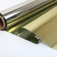 20X20ft(0.5X6m) One Way Gold Silver Reflective Mirrored Effect Window Film Privacy Glass Tint Sticker