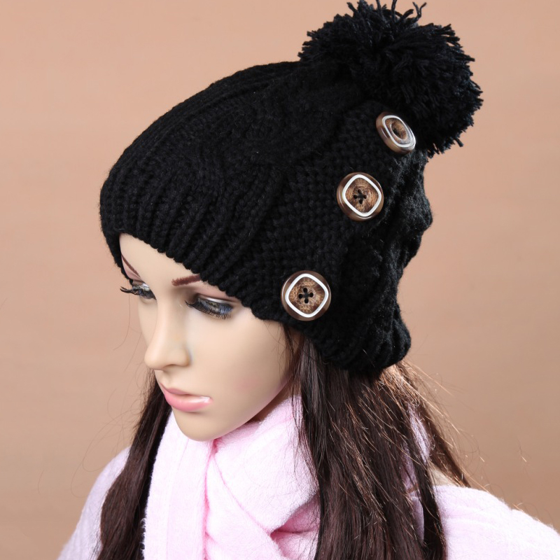 1pcs Autumn Winter Cap Women Warm Knitted Fashion Hat For Girls Cap Woman Hat Skullies Beanies Gorros Woman Cap Bonnet Homme knitted winter autumn female hat plaid lace beanie cap woman chunky baggy cap skull gorros de lana mujer femme beanies cap