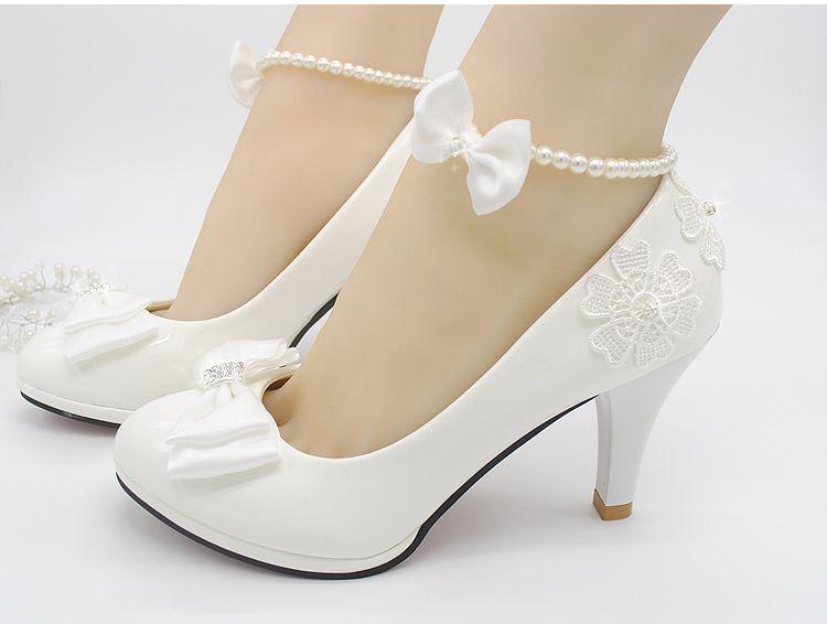 mejor valor zapatos casuales Calidad superior € 24.84 40% de DESCUENTO|Zapatos de boda leche blanco luz marfil bombas  para mujer tacones altos bajos PR563 bomba de boda para mujer zapatos de  novia ...