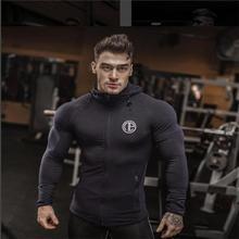 Fitness Men Bodybuilding Hoodies Gyms Brand Clothing Men Hoody Zipper Casual Sweatshirt Men's Slim Fit Hooded Jackets