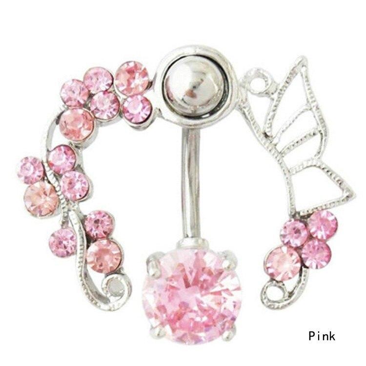 HTB1Fx2sIFXXXXa_XpXXq6xXFXXXm Enchanting Butterfly Garden Hollow Belly Button Ring For Women - 2 Colors